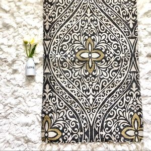Other - Woven white Gray Black Yellow Cotton Floor Mat